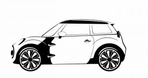 Sketch of the Mini small car