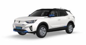 SsangYong Korando e-Motion EV front three quarters