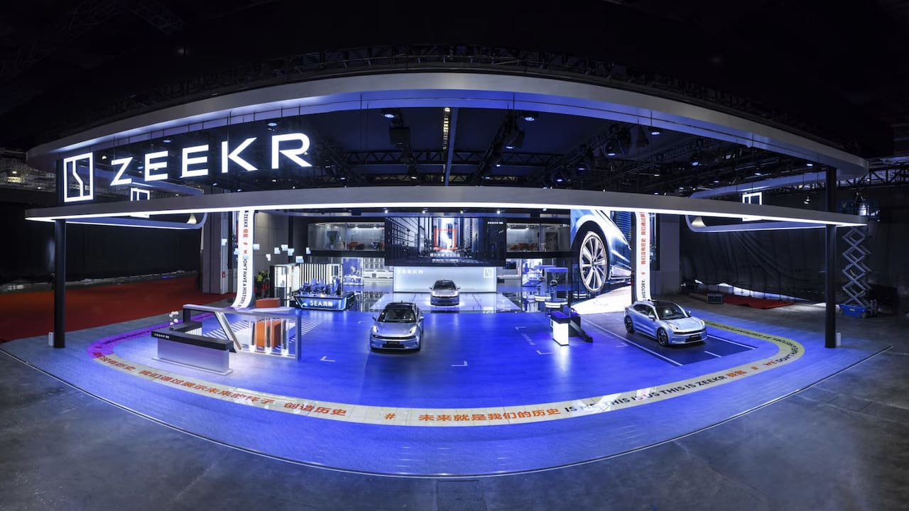 Zeekr Stall at Auto Shanghai 2021