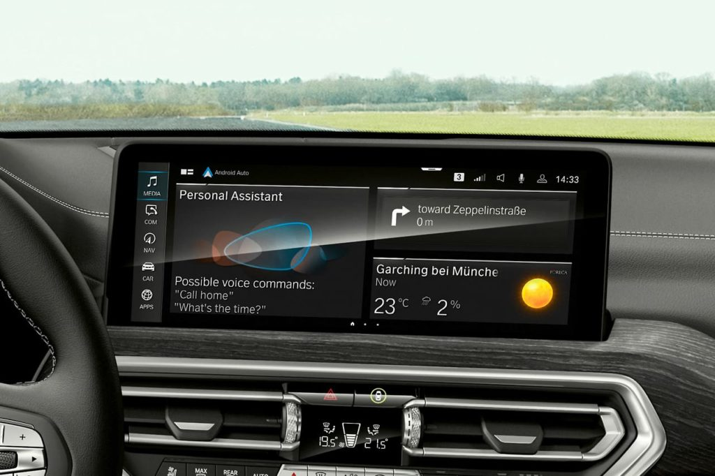 2022 BMW X3 facelift 12.3-inch touchscreen infotainment system
