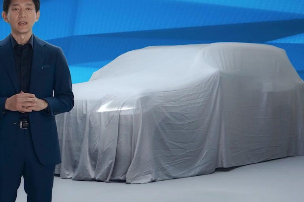 2022 Lexus LX front headlamp teaser