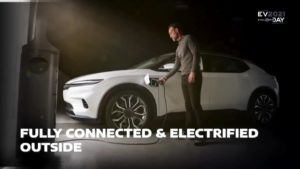 Chrysler electric SUV coupe charging teaser
