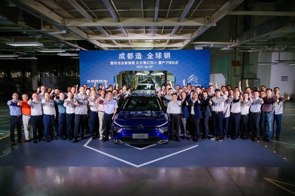 Citroen C5X production Chengdu