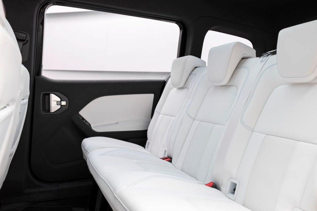 Mercedes EQT concept rear seats