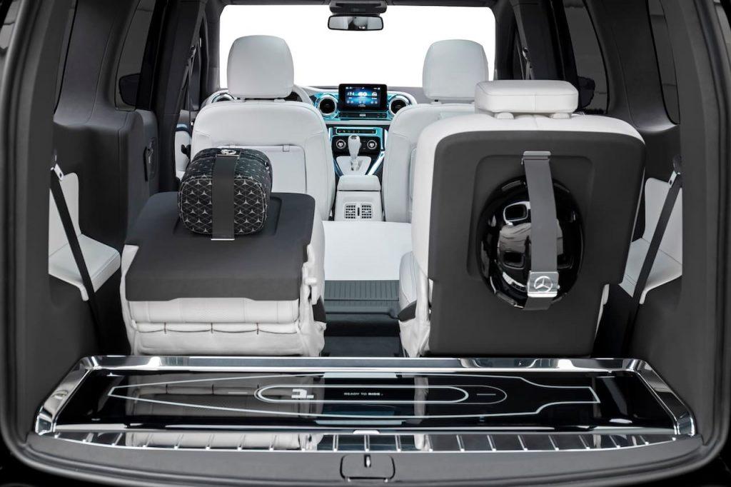 Mercedes EQT concept seats longboard