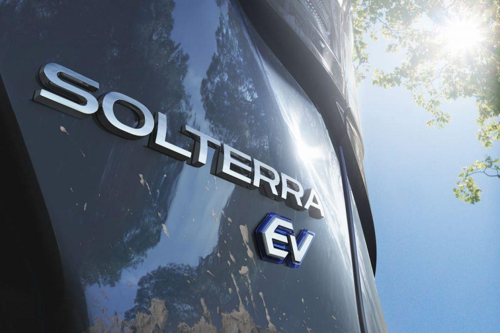 Subaru Solterra EV rear badge