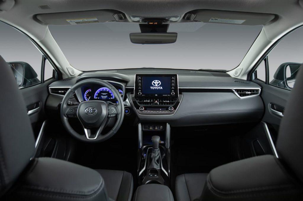 US-spec 2022 Toyota Corolla Cross interior dashboard