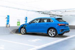 2021 Audi A3 plug-in hybrid charging