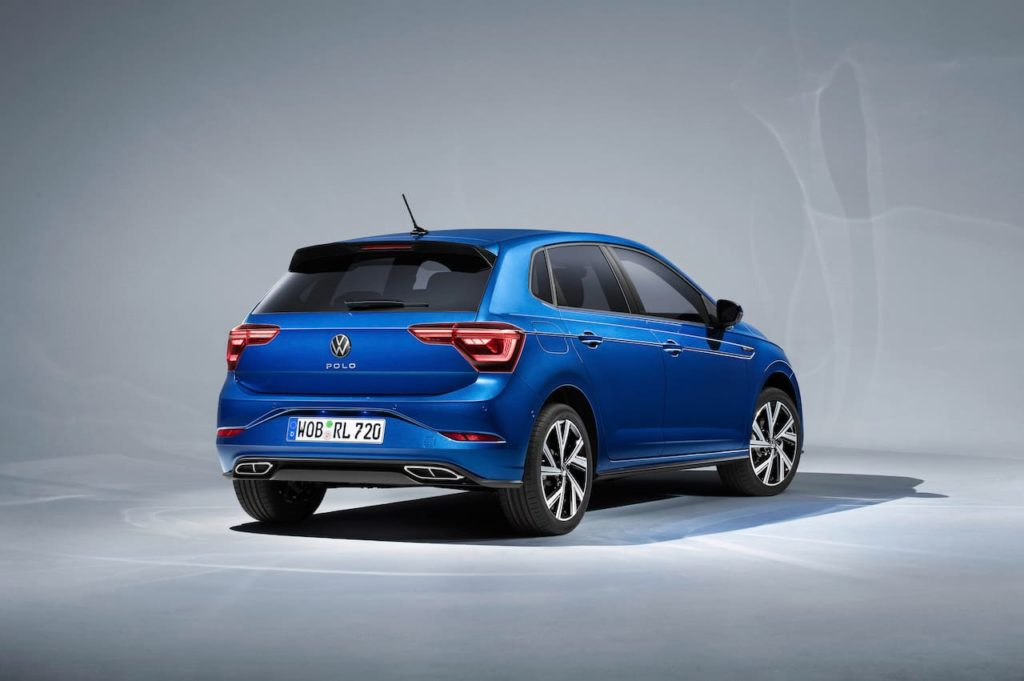 2021 VW Polo facelift rear three quarters