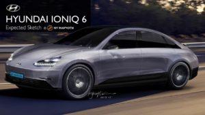 2022 Hyundai Ioniq 6 rendering