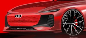 Audi A6 e-tron teaser