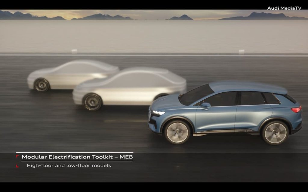 Audi MEB models which could include Audi A3 Electric