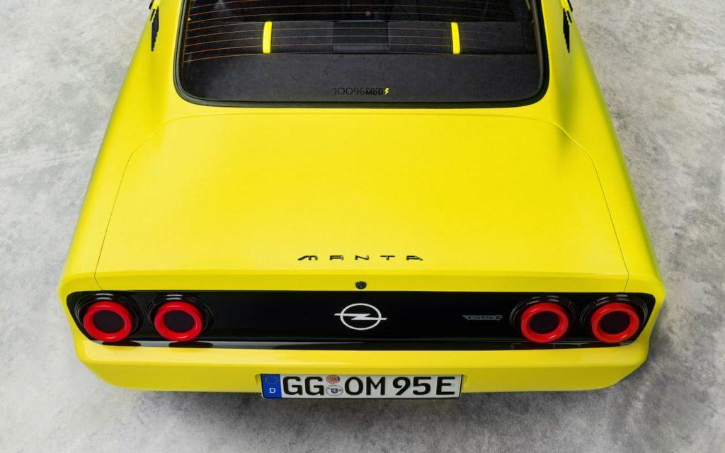 Opel Manta GSe EV rear