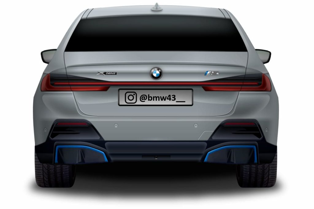 BMW i5 or BMW 5 Series electric rear rendering