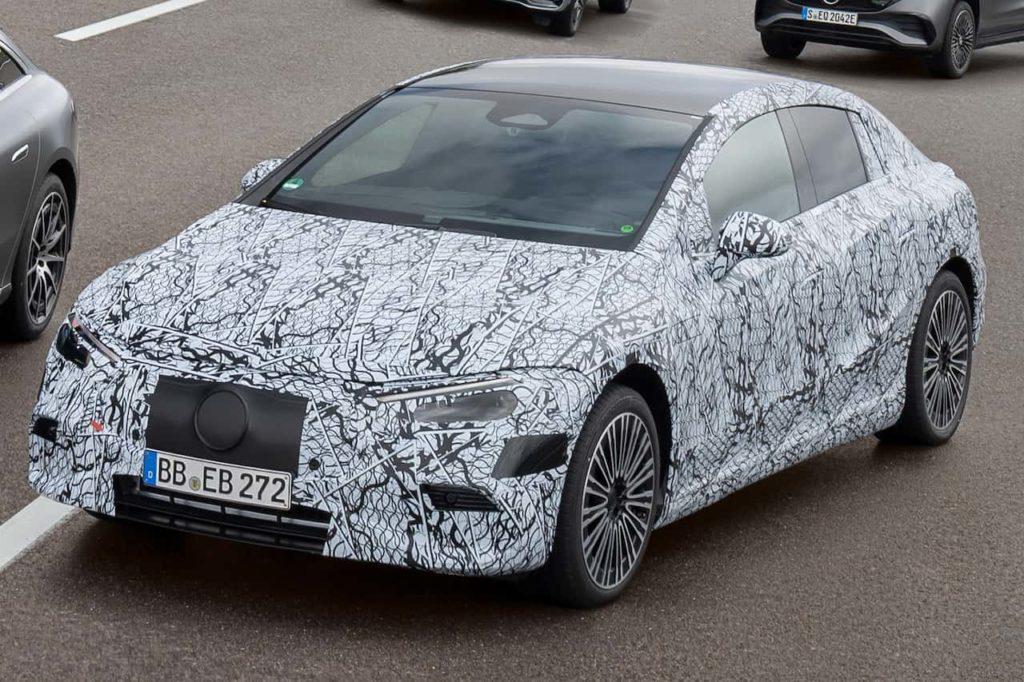 Mercedes EQE camouflaged prototype
