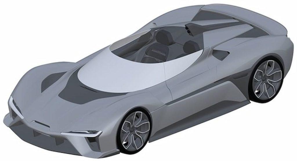 Nio EP9 convertible patent image