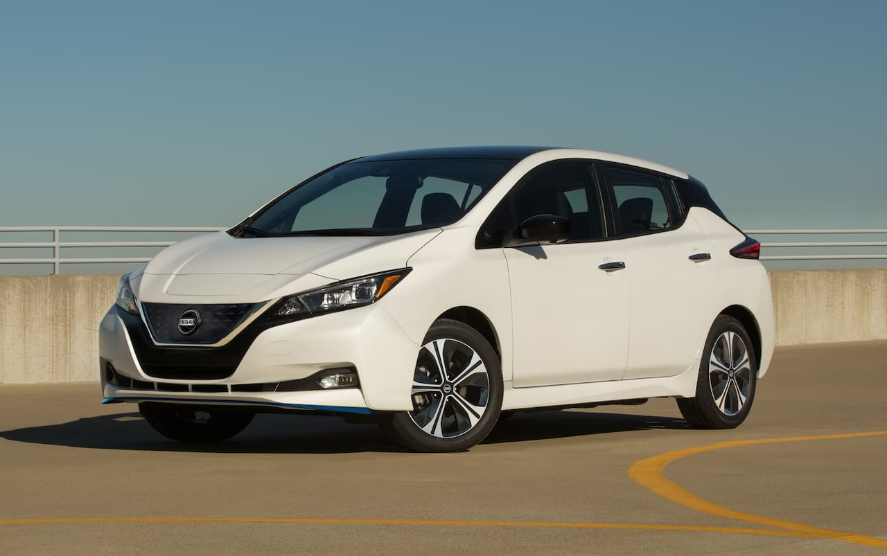 Nissan Leaf front three quarter