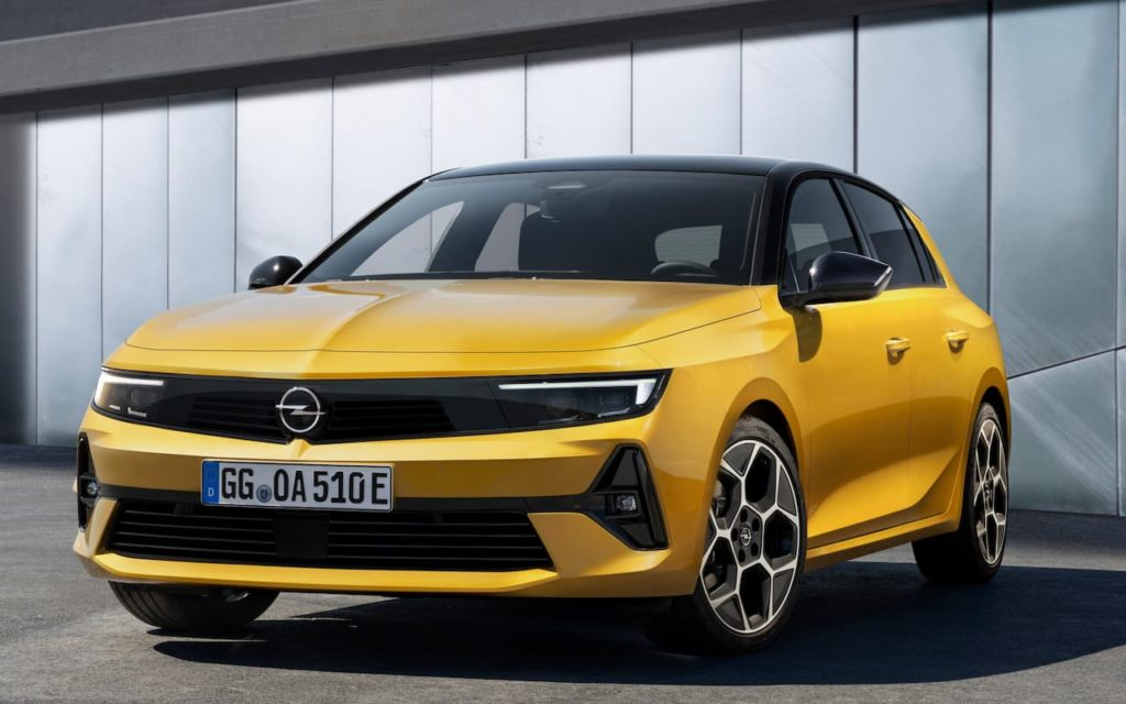 Opel Astra front three quarter