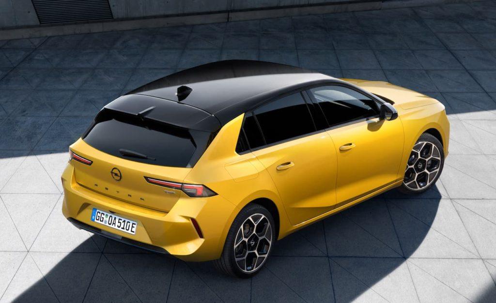 Opel Astra rear three quarter