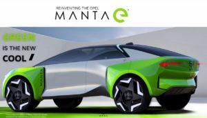 Opel Manta electric SUV side