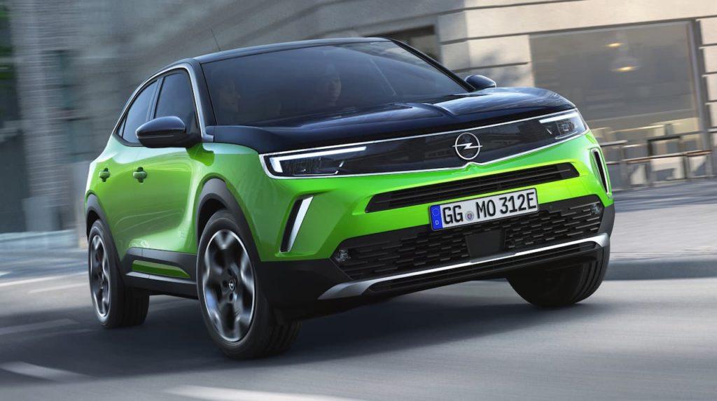 Opel Mokka-e front three quarter