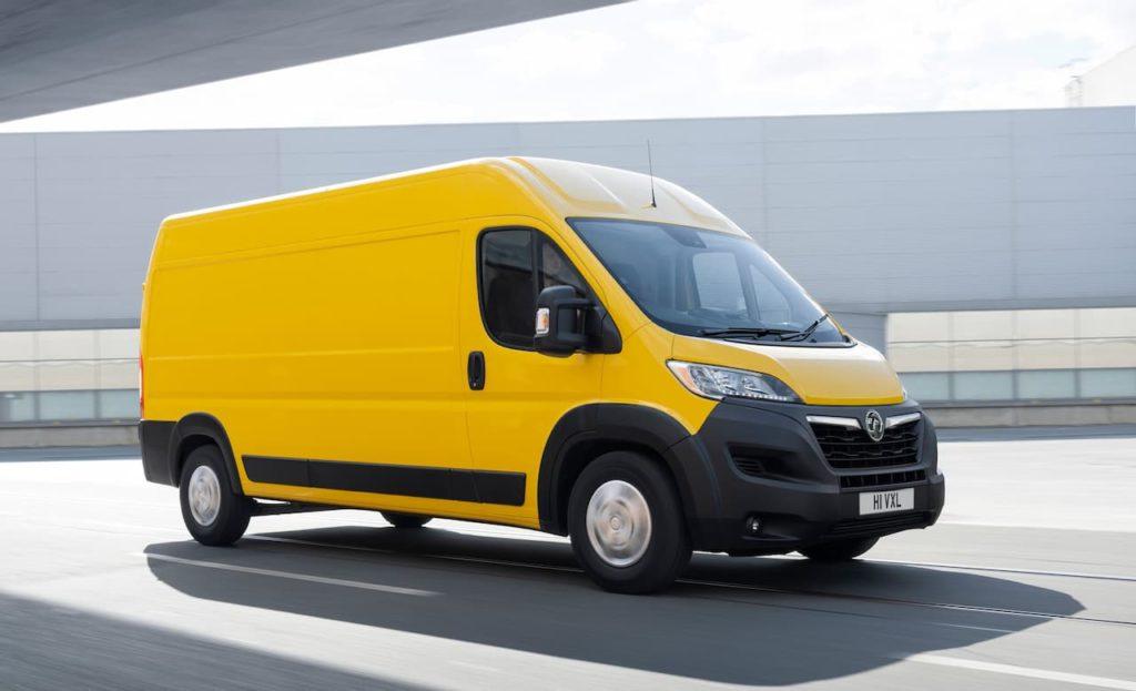 Vauxhall Movano-e front three quarter