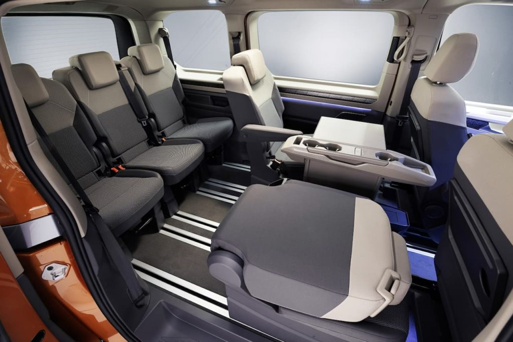Volkswagen Multivan seats